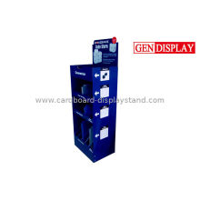 Custom Cardboard Electronic Products Display , Flating Packaged