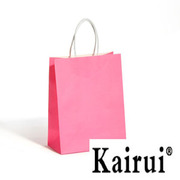 Isolated Rose Red Plain Kraft Paper Bag