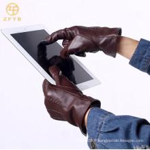Gant tactile en cuir noble, gant tactile homme pour iphone