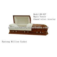 maple veneer casket American style funeral product