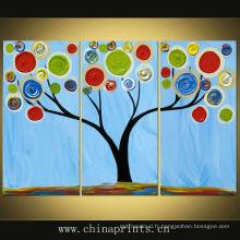 Art coloré de peinture murale manuelle