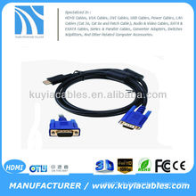 Gold HDMI TO VGA CABLE 5FT HDMI Stecker auf VGA HD-15 Stecker Kabel