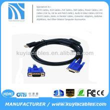 Oro HDMI A VGA CABLE 5FT HDMI macho a VGA HD-15 macho cable