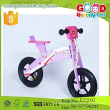 2015 púrpura y los niños de madera de la bici del color negro, montan en el juguete de la bici con el precio de fábrica