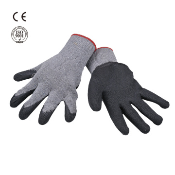 cotton knitted gloves with latex coated