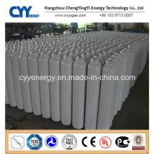 Cylindre à gaz en acier inoxydable à base d'oxygène nitrogène à haute teneur en CO2 à base d'oxygène