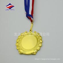 Nouvelle conception des médailles en forme de guignelle en blanc