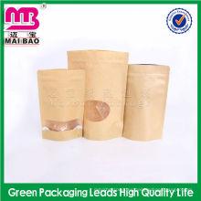 La bolsa de papel de empaquetado marrón estándar del alimento del FDA para se seca la comida