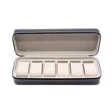 Simple style custom PU travel watch case 4 slot 6 slot 7 slot watch box