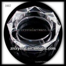 K9 Crystal Ashtray with Octagon Shape