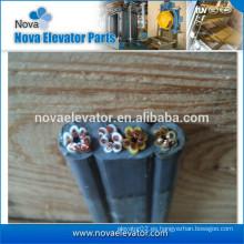 El viajar plano eléctrico usado en el elevador