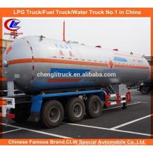 28t Propan Tank Auflieger 56cbm LPG Transport Anhänger für Nigeria