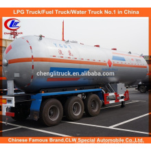 28t Propano Tanque Semi-reboque 56cbm LPG Transporte Reboque para a Nigéria