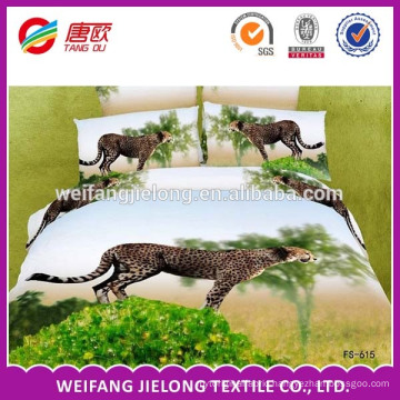 latest bed sheet fabric, animal print 3D bed sheet fabric