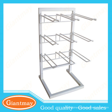 weißes Metalldrahtzähler-Display-Rack zum Aufhängen von Gegenständen