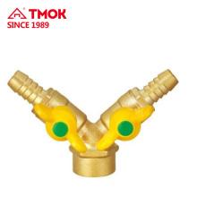 Ajuste de latón puerto completo de alta presión de 1/2 pulgada y niquelado de chorreado forjado Conexión roscada NPT aprobada por CE en TMOK