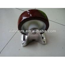 rodízio em aço inoxidável para mesa de poliuretano