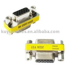 15 Pin HD SVGA VGA Buchse zum weiblichen Geschlechtwechsler Adapter