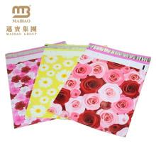 Fornecedor profissional Colorido Por Atacado Rose Flor Padrão Personalizado Impresso Poli Mailers