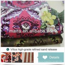 Shaoxing tela de tela de tapicería de tigre de impresión