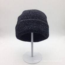 Sombrero hecho punto popular coreano en blanco barato al por mayor de la gorrita tejida (ACEK0117)