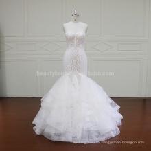XF16009 china classic lace mermaid queen wedding dress