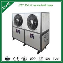Air source low ambient temperature circulating heating heat pump