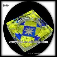 Cenicero de cristal impreso color K9 I089