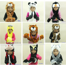 Winter long design plush animal hat children hat
