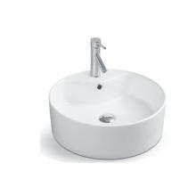 Home usage new mordern ceramic white color round wash art basin above top basin