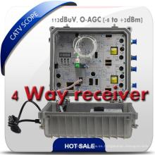 Receptor óptico de la fibra de CATV / nodo óptico bidireccional de 4 maneras con el Snmp