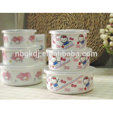 bacia do gelo do esmalte / utensílios de mesa descartáveis para o casamento