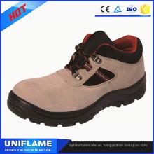 Zapatos de trabajo de seguridad de cuero con estilo de las mujeres Ufa087