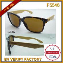 Bambus und Holz Arm Sonnenbrille (F5546)