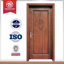 Acabado casa más reciente diseño interior tallado puerta de madera