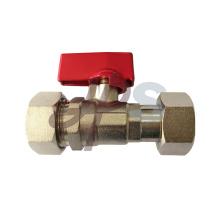 Válvula de bola recta del metro del agua del tipo CW617N con la tuerca del eslabón giratorio y la conexión del tubo de PEX