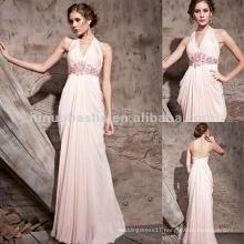 NY-2554 Girls Hot Pink Long Halter Party Dress