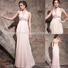 NY-2554 Vestido de festa Long Pink Halter Girls