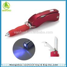 Nuevo diseño 4 en 1 multifunción plástico bolígrafo pluma promocional
