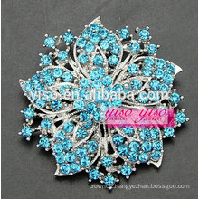 female vintage colored crystals flower brooch