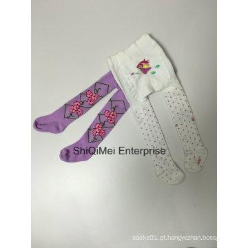 Fornecer as crianças crianças algodão meia-calça colorida meia-calça