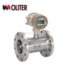 Stainless steel 304 4-20ma output flow meter digital turbine gas meter