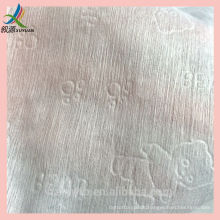 Embossed baby wet/dry wipes Spunlace viscose polyester nonwoven fabric embossed dry /wet salon baby wipes