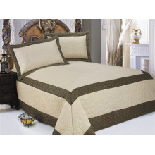 3pcs satin / microfiber quilted satin bedspread