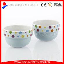 Venta al por mayor Decorar Decal Ceramic Ice Cream Cup