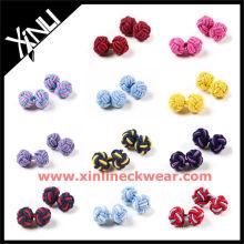 Solide verschiedene Farbe Seide Knoten Manschettenknopf