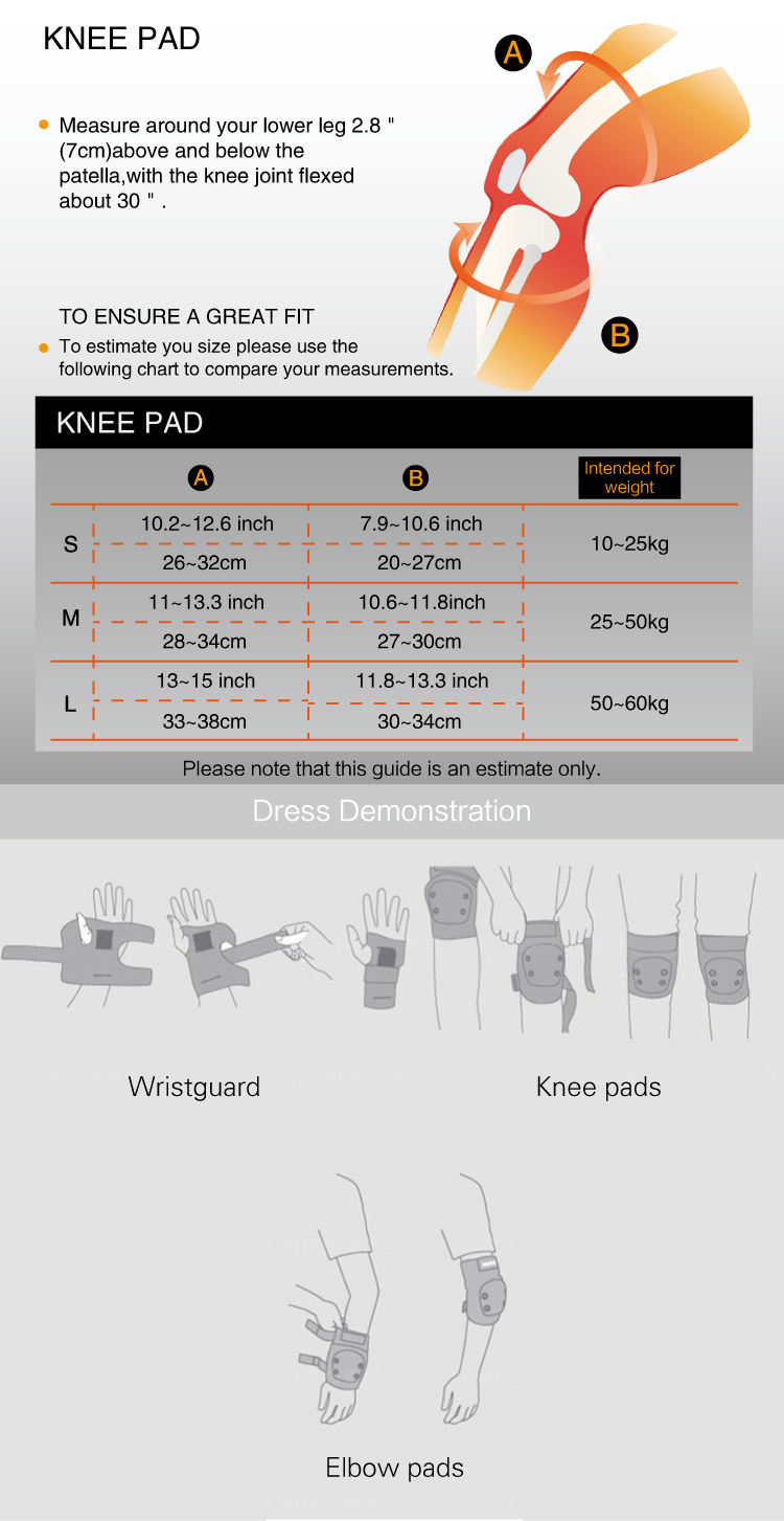 Knee Elbow Pads Wrist Protective Gear