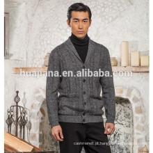 Casaco de malha de confecção de 100% de cashmere de estilo estilo