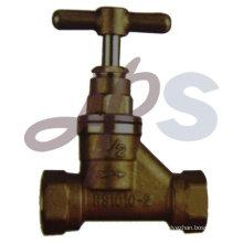 brass & bronze stop valve with brass handle