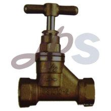 válvula de parada de latão e bronze com alça de latão